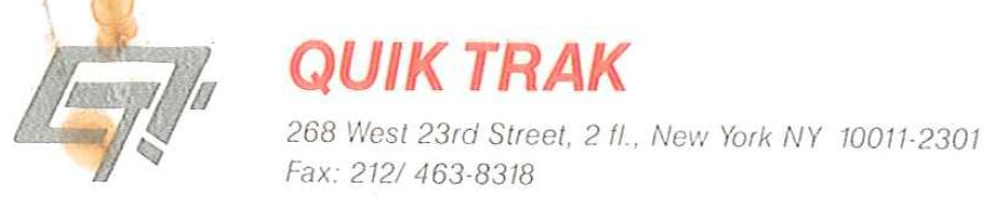 QUICK TRAK MESSENGER LOGO